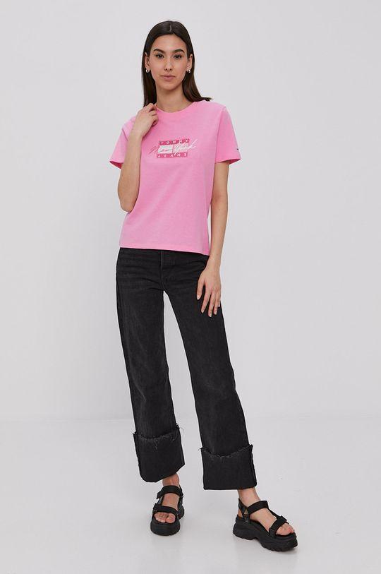 Tommy Jeans - T-shirt orchidea