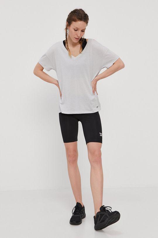jasny szary Reebok - T-shirt Damski