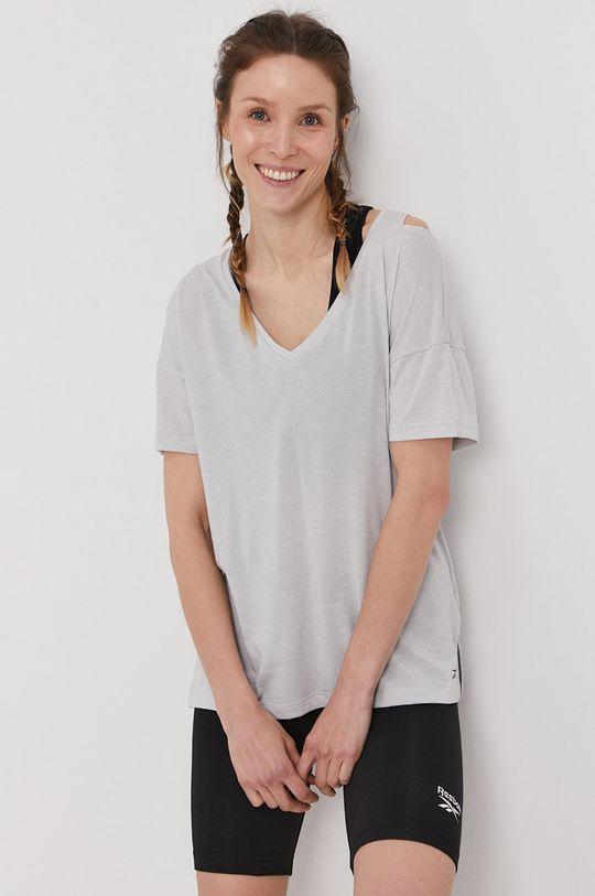 Reebok - T-shirt jasny szary