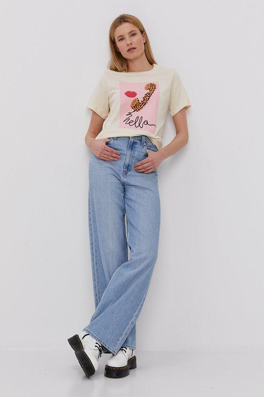 Jacqueline de Yong - T-shirt pszeniczny
