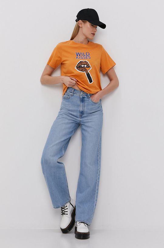 Jacqueline de Yong - T-shirt bursztynowy
