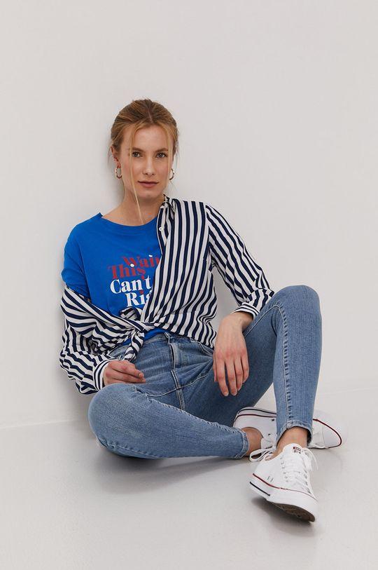 Jacqueline de Yong - T-shirt niebieski