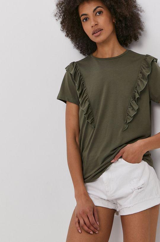 zelená Jacqueline de Yong - Tričko Dámsky