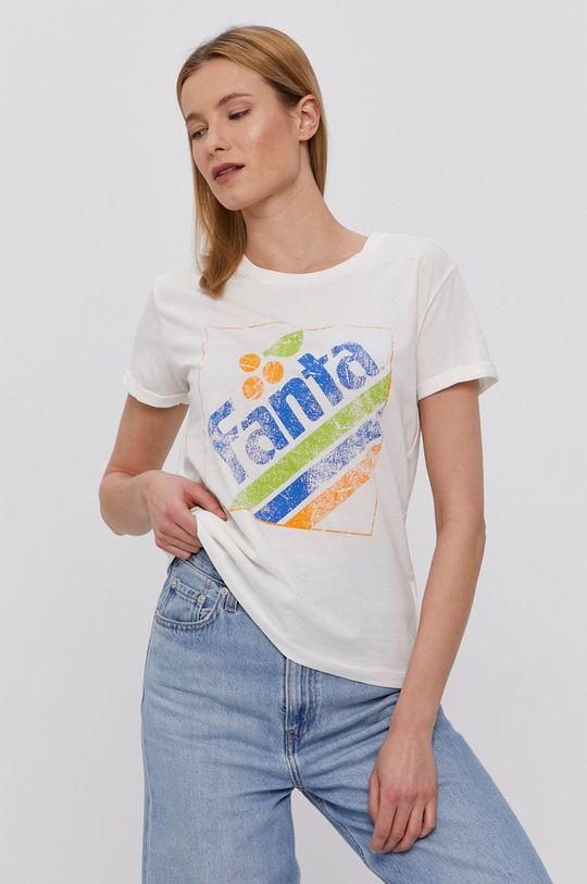 kremowy Jacqueline de Yong - T-shirt Damski