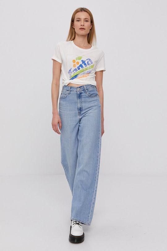 Jacqueline de Yong - T-shirt kremowy