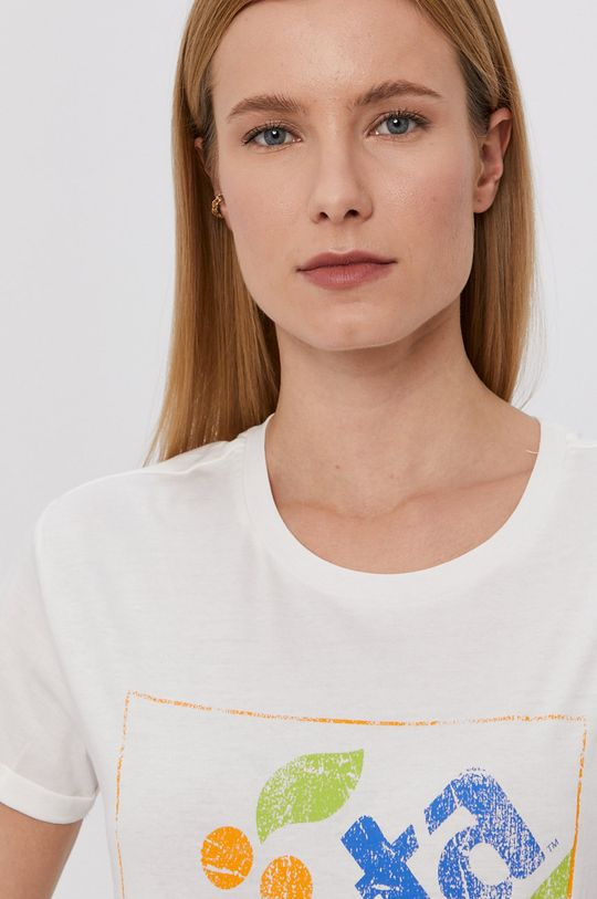 kremowy Jacqueline de Yong - T-shirt