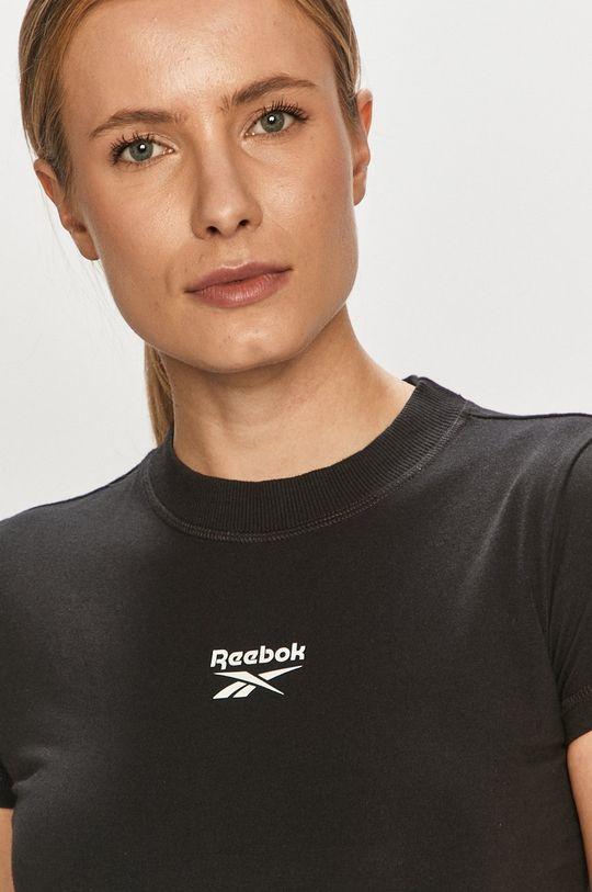 czarny Reebok Classic - T-shirt