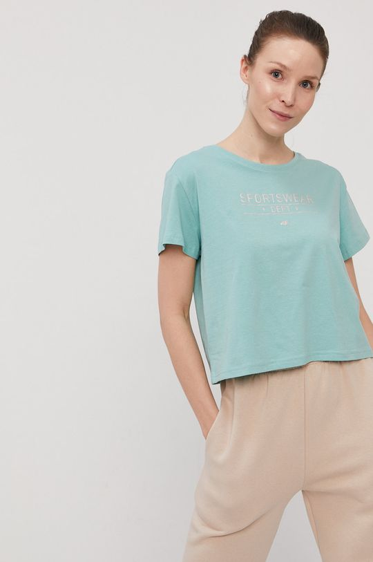 blady zielony 4F - T-shirt Damski