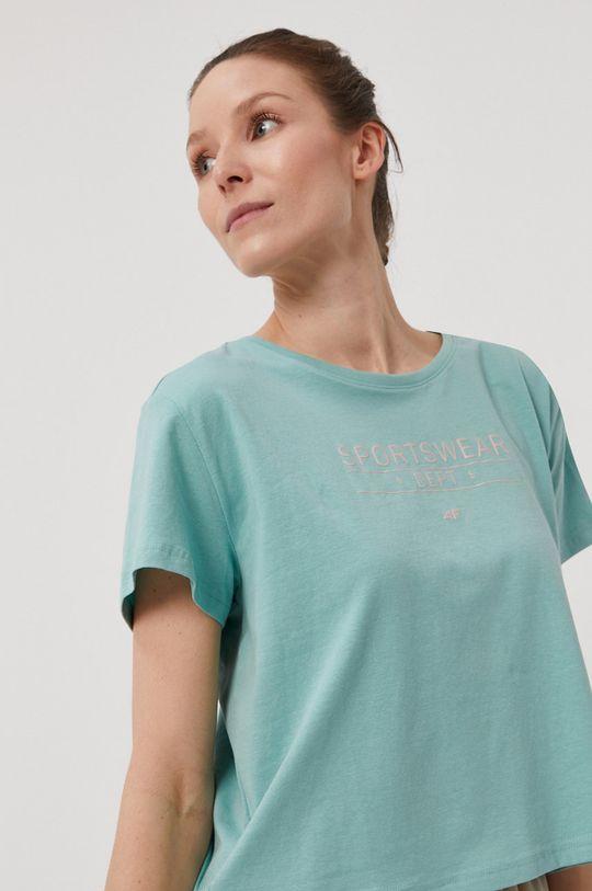 4F - T-shirt 95 % Bawełna, 5 % Elastan
