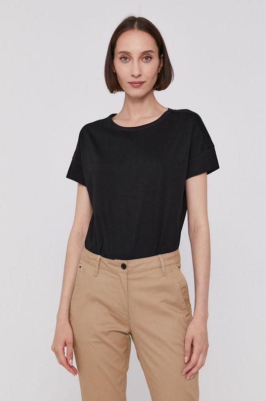 czarny Scotch & Soda - T-shirt Damski