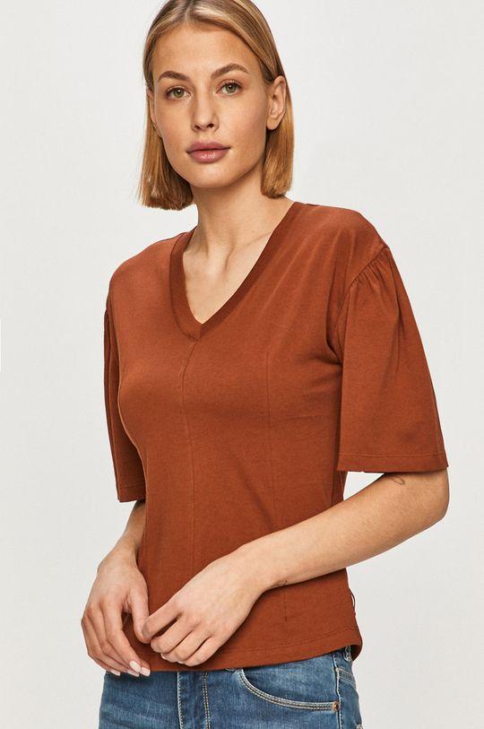 brązowy Scotch & Soda - T-shirt Damski