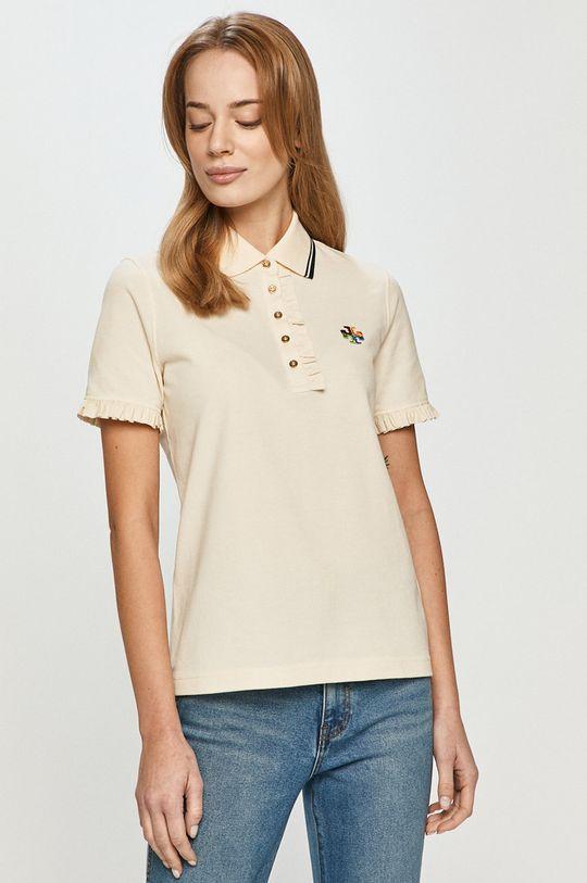kremowy Tory Burch - T-shirt Damski