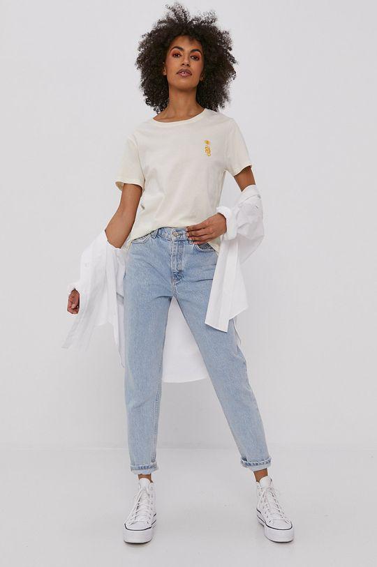 kremowy Billabong - T-shirt Damski