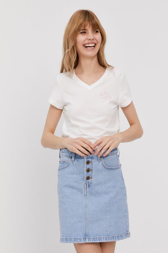 biały Mustang - T-shirt Damski