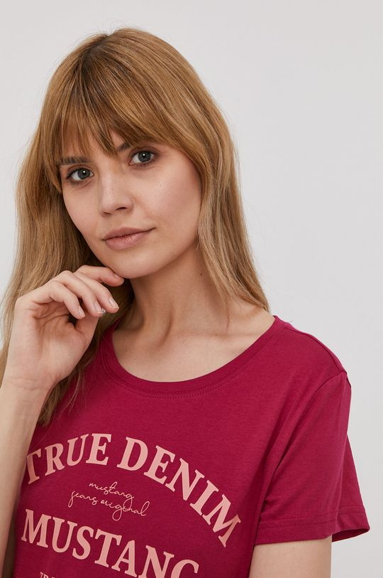 fuksja Mustang - T-shirt