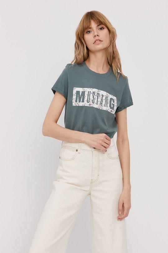 hnedozelená Mustang - Tričko Dámsky