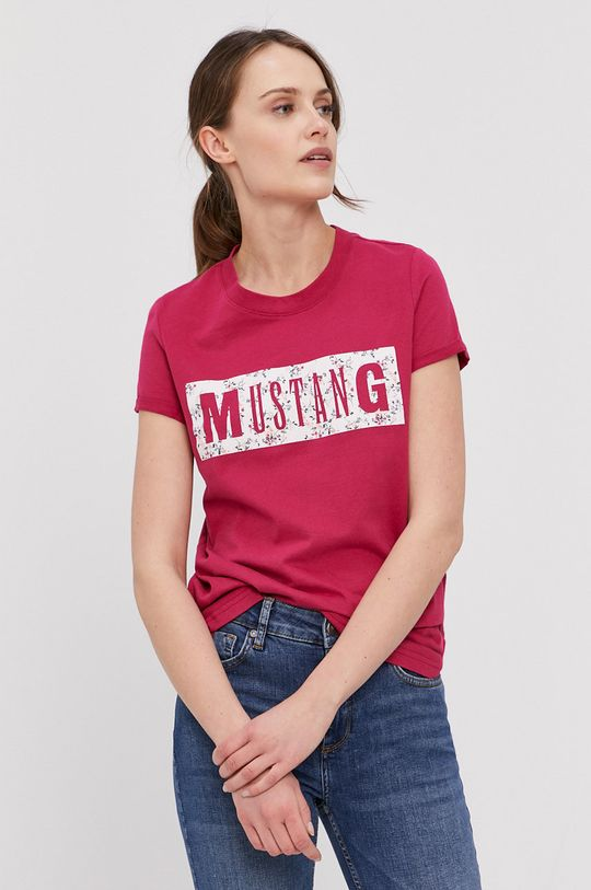 fuchsiová Mustang - Tričko