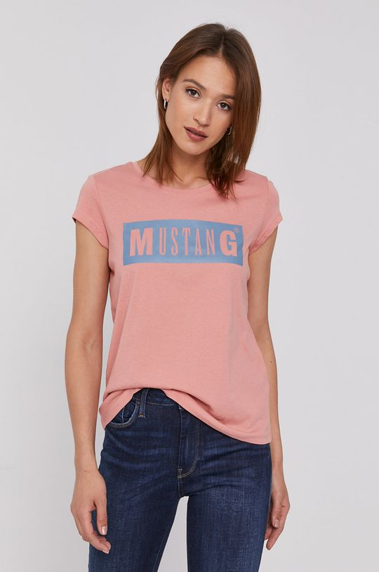 brudny róż Mustang - T-shirt Damski