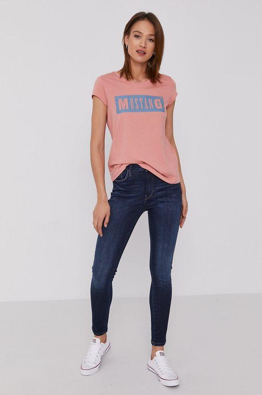 Mustang - T-shirt brudny róż