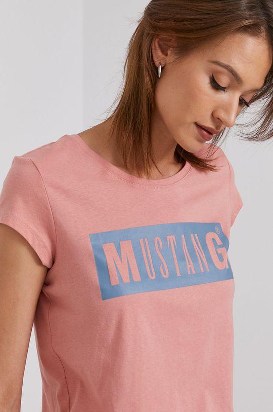 brudny róż Mustang - T-shirt