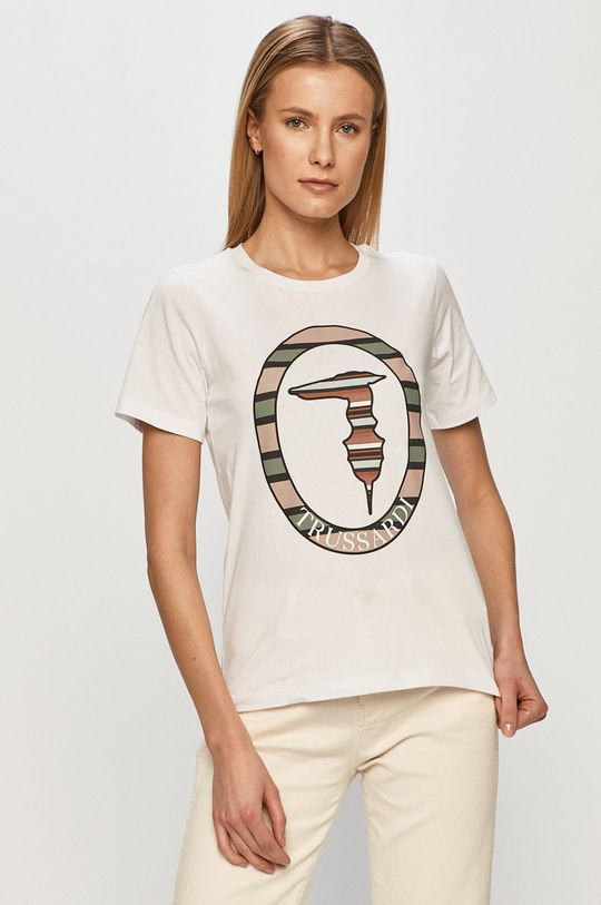 bílá Trussardi Jeans - Tričko Dámský