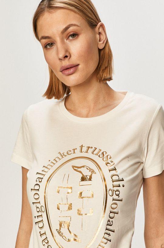 smetanová Trussardi Jeans - Tričko