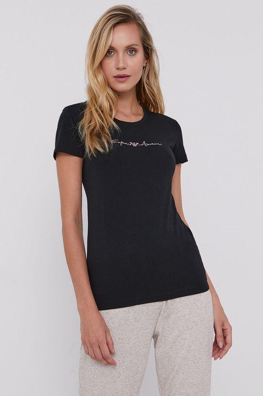 černá Emporio Armani - Pyžamové tričko Dámský