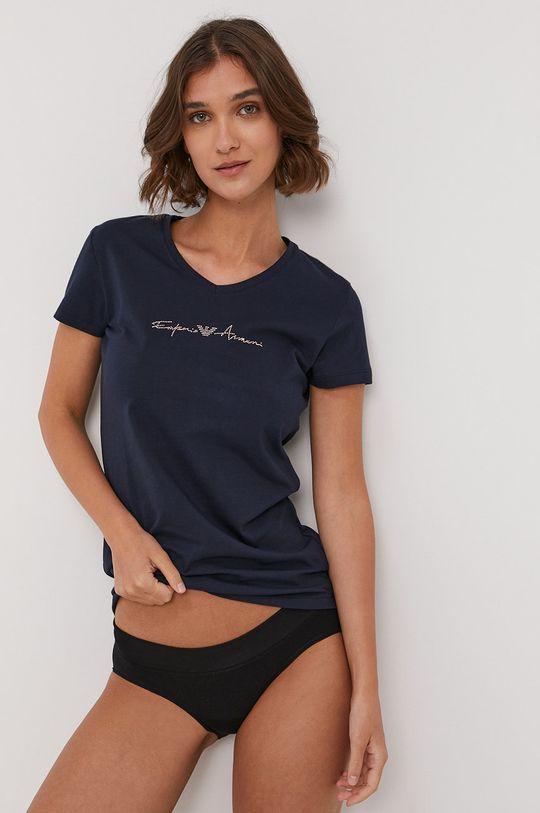 granatowy Emporio Armani - T-shirt piżamowy Damski