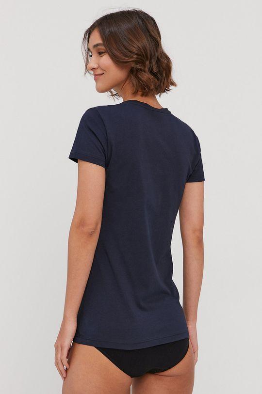 Emporio Armani - T-shirt piżamowy granatowy