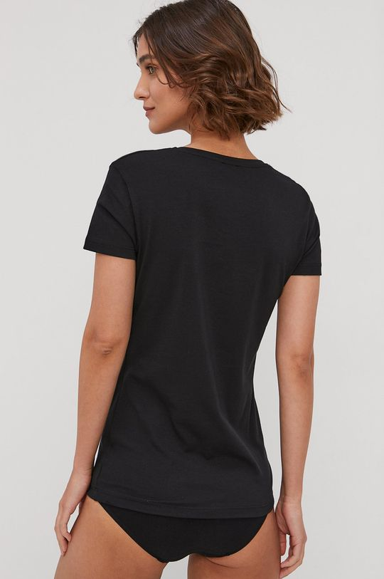 Emporio Armani - T-shirt piżamowy czarny