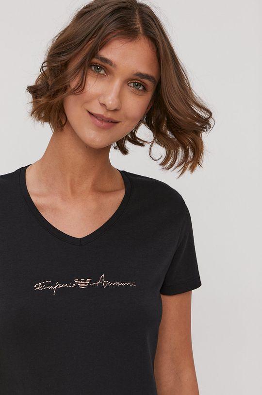 Emporio Armani - T-shirt piżamowy 95 % Bawełna, 5 % Elastan