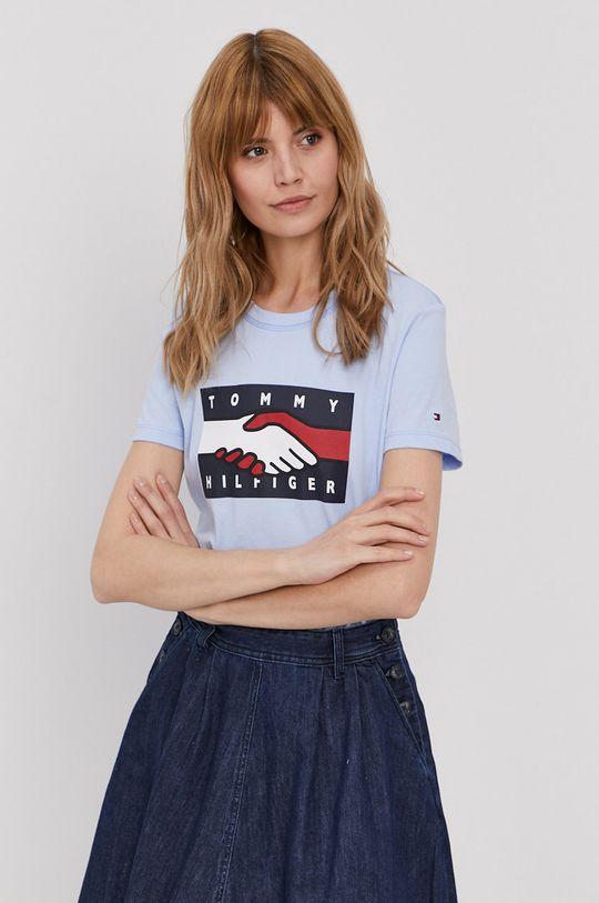 jasny niebieski Tommy Hilfiger - T-shirt Damski
