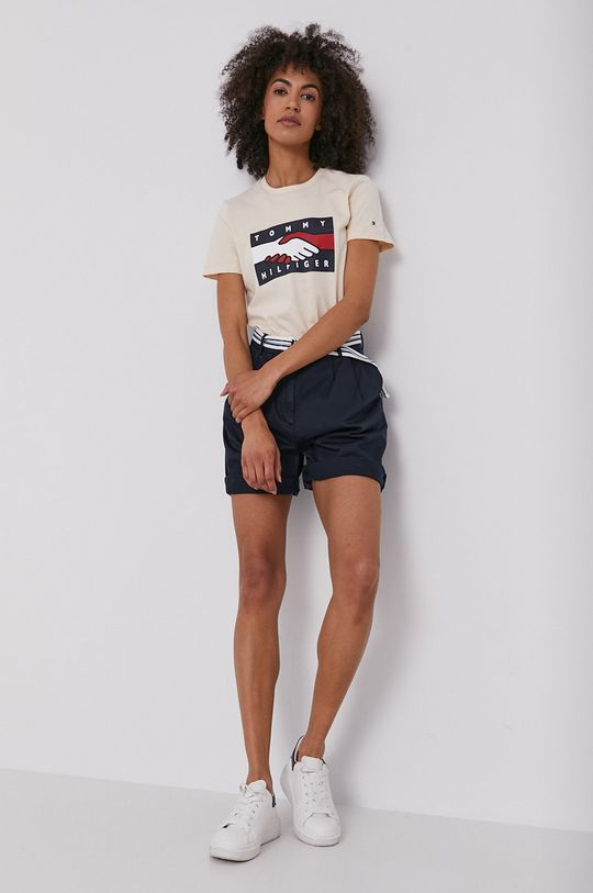 Tommy Hilfiger - T-shirt beżowy