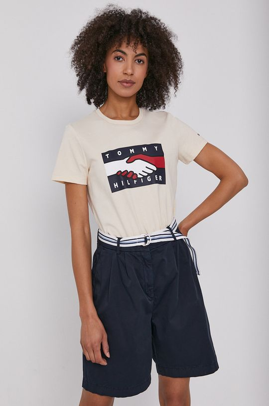 beżowy Tommy Hilfiger - T-shirt
