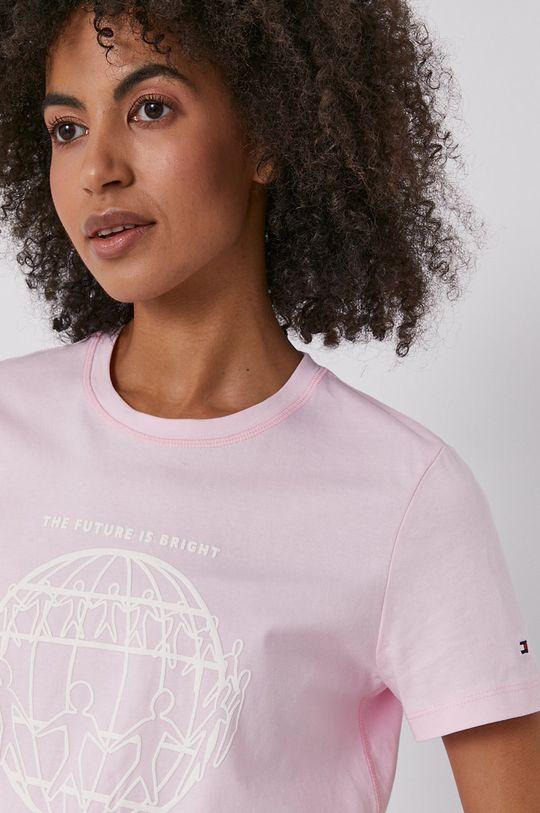 růžová Tommy Hilfiger - Tričko