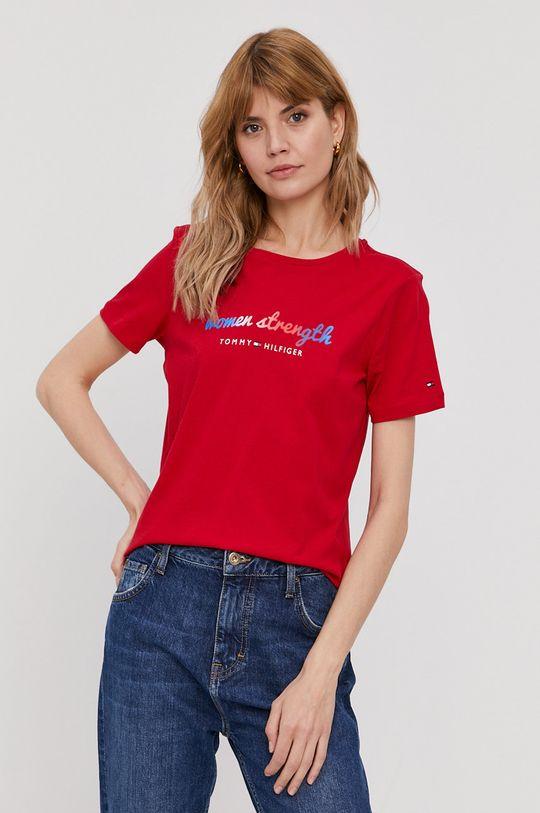 czerwony Tommy Hilfiger - T-shirt Damski