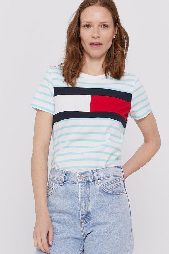 zielony Tommy Hilfiger - T-shirt Damski