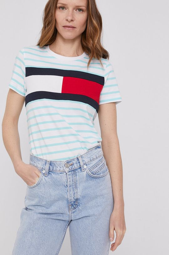 zielony Tommy Hilfiger - T-shirt