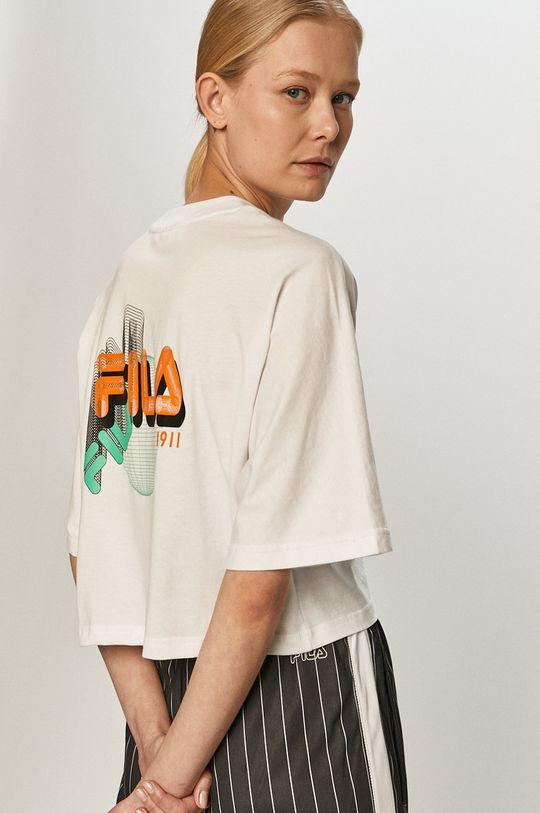 biały Fila - T-shirt Damski