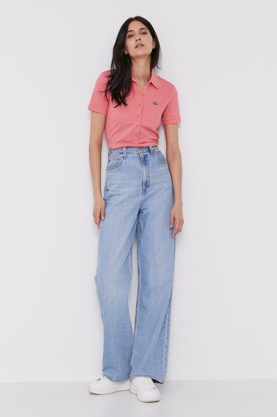 brudny róż Lacoste - T-shirt Damski