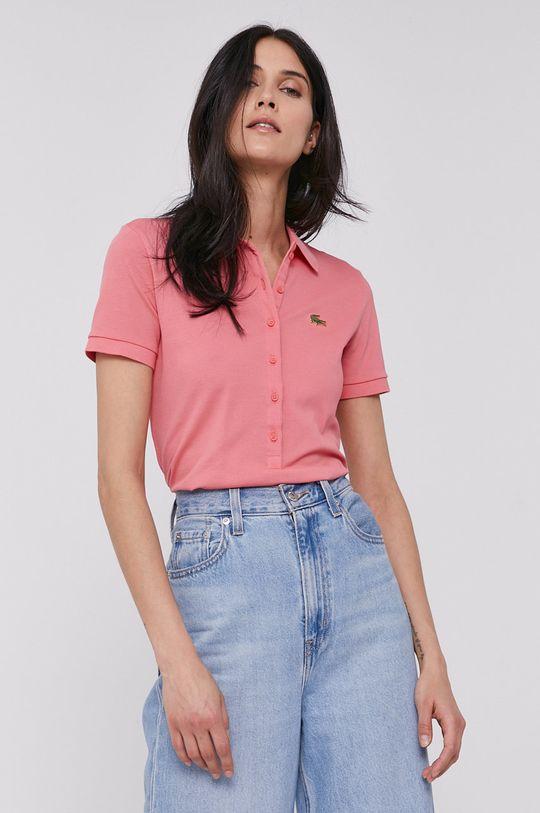 Lacoste - T-shirt brudny róż