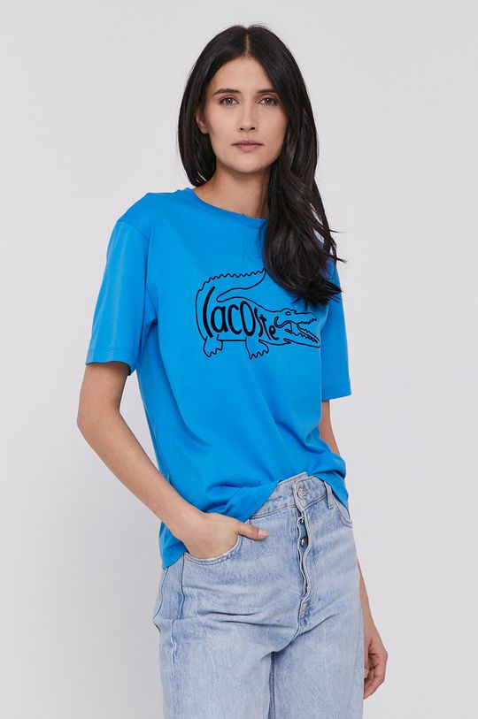 niebieski Lacoste - T-shirt Damski