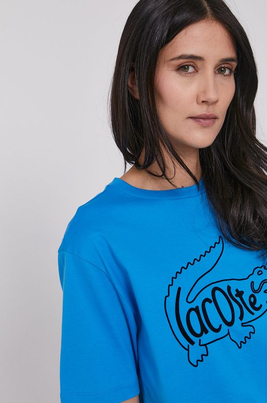 niebieski Lacoste - T-shirt