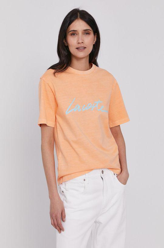Lacoste - Tricou portocaliu