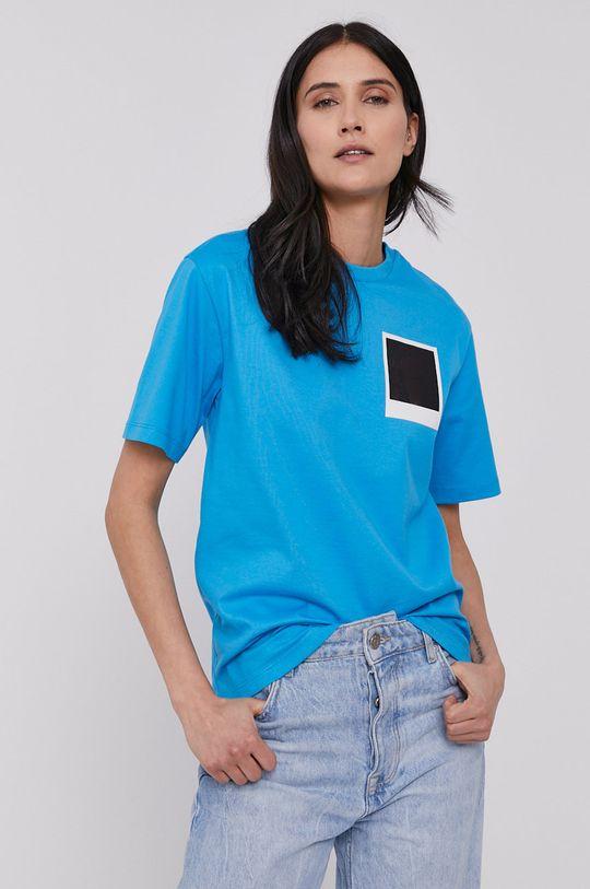 modrá Lacoste - Tričko x Polaroid Dámsky