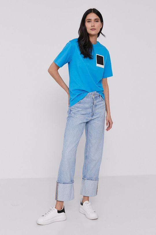 Lacoste - Tričko x Polaroid modrá