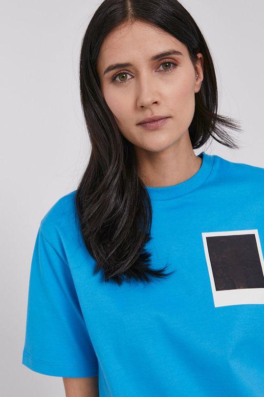 modrá Lacoste - Tričko x Polaroid