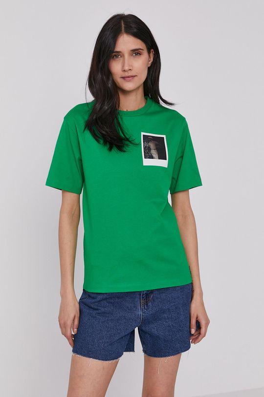 zelená Lacoste - Tričko x Polaroid Dámsky