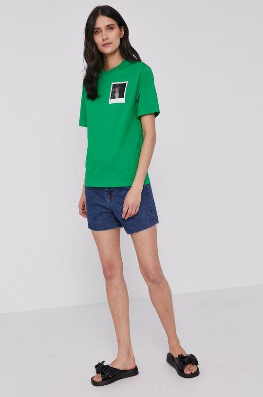 Lacoste - Tričko x Polaroid zelená