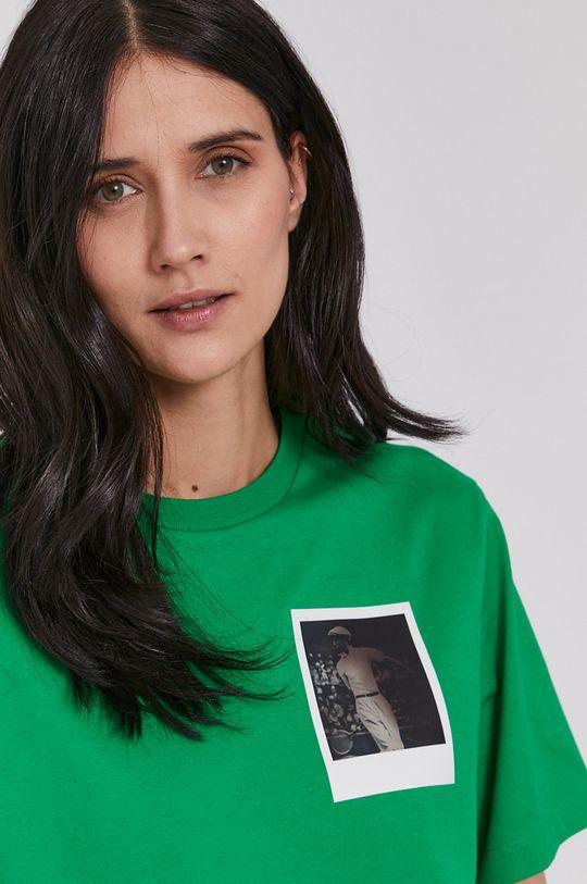 zelená Lacoste - Tričko x Polaroid